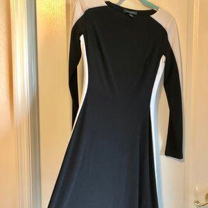 Ralph Lauren black and white designer dress